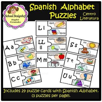 Spanish Alphabet Puzzle - Rompecabezas Alfabeto Español