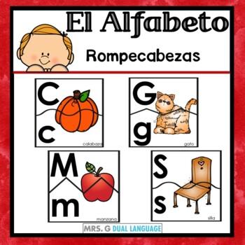 El alfabeto Spanish Alphabet and Beginning Sounds Puzzles