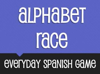 Spanish Alphabet Race Activity
