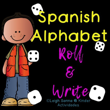 Spanish Alphabet Roll & Write