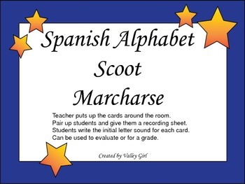 Scoot: Spanish Alphabet  Game _ Marcharse Sonidos Iniciales