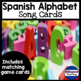 Spanish Alphabet Song Cards with  Alphabet Sounds Matching Game