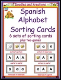 Spanish Alphabet Sorting Cards and Games