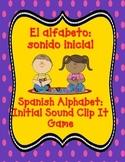 Las letras del alfabeto:  juego de sonido inicial.