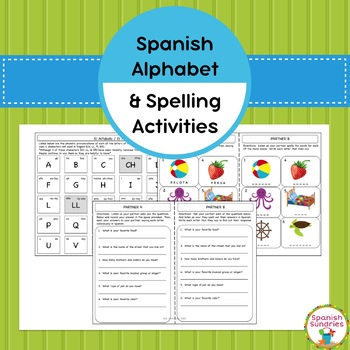 Spanish Alphabet & Spelling Activities (Abecedario)