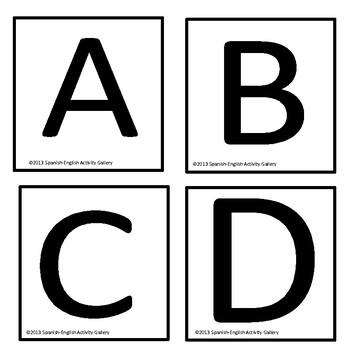 Spanish Alphabet Hop Scotch