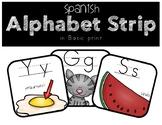 Spanish Alphabet Strip and Word Wall Headers