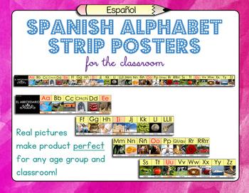 Spanish Alphabet Strip Posters