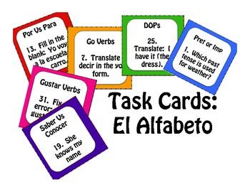 Spanish Alphabet Task Cards