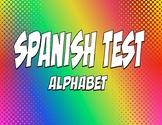 Spanish Alphabet Test