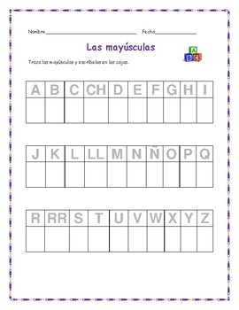 Alphabet Trace and Write - Spanish