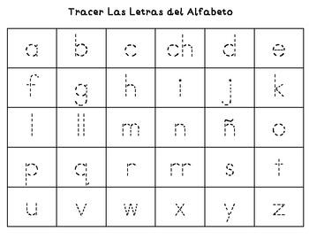 spanish alphabet tracing by steffani ibarra teachers pay teachers. Black Bedroom Furniture Sets. Home Design Ideas