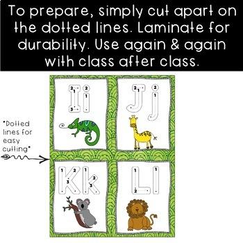 Spanish Alphabet Tracing Cards