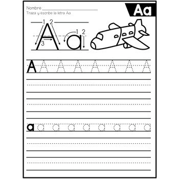 spanish alphabet tracing worksheets by the bilingual. Black Bedroom Furniture Sets. Home Design Ideas
