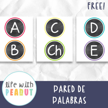 Spanish Alphabet Word Wall Letters