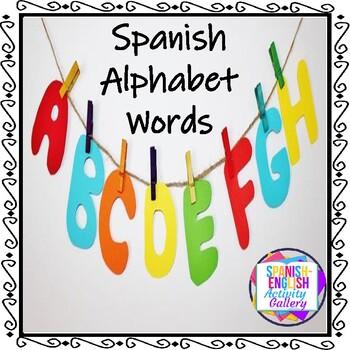 Spanish Alphabet Words