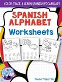 Spanish Alphabet Worksheets- Alfabeto