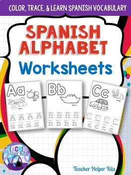 Spanish Alphabet Worksheets- Alfabeto