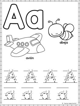 Spanish Alphabet Worksheets- Alfabeto by Teacher Helper ...