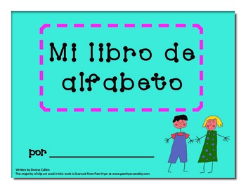 Spanish Alphabet Writing Book
