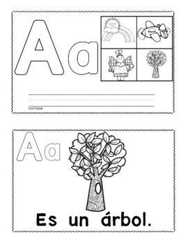 Spanish Alphabet and  Beginning Sounds Books
