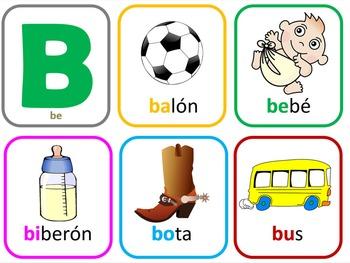 Spanish Alphabet Unit - Part 2 of 4 -  PHONICS - syllables