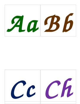 Spanish Alphabet letters for  Word Wall
