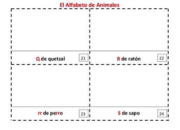 Spanish Alphabet of Animals / Alfabeto de Animales Booklets