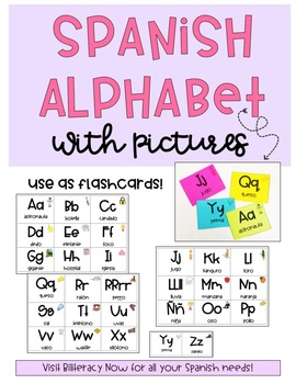 Spanish Alphabet with PICTURES - Flashcards!