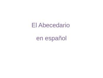 Spanish Alphabet with Phonetic Transcriptions
