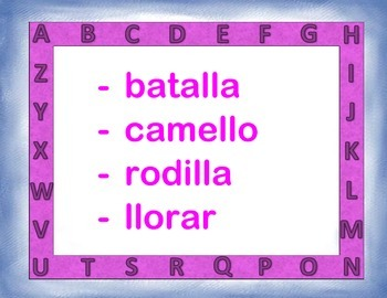 Spanish Alphabetical Order / Orden Alfabetico in a Station / Center Activity