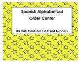 Spanish Alphabetical Order Task Cards (Orden Alfabetico)