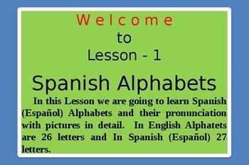 Spanish Alphabets