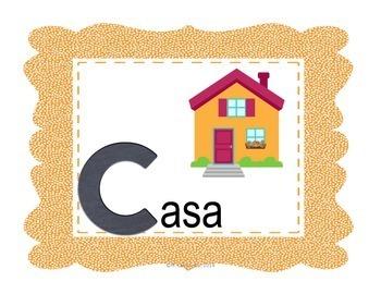Spanish Alphabet Poster Set