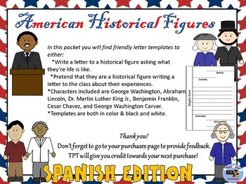 Spanish American Historical Figures Letter Writing