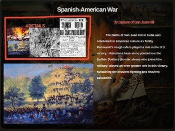 Spanish-American War - 4 causes, 4 figures, 4 events, 4 effects (20-slide PPT)