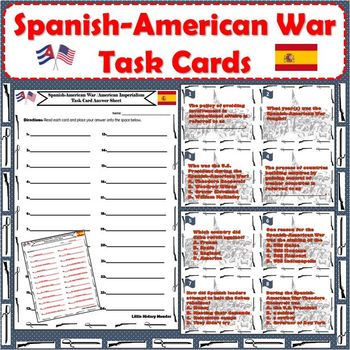 Spanish-American War / American Imperialism Task Cards