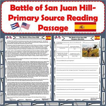Spanish-American War - Battle of San Juan Hill - Primary Source Reading Passage