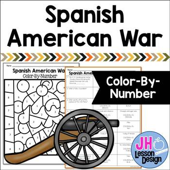 Spanish American War: Color-By-Number