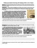 Spanish American War: Common Core Text-based Answers Activity