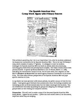 Spanish-American War, Cuba - Primary Source Documents Jigsaw