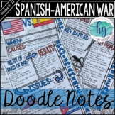 Spanish American War Doodle Notes and Digital Guided Notes