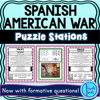 Spanish American War ESCAPE ROOM:  Roosevelt, San Juan Hill, Treaty of Paris