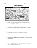 Spanish American War Map Worksheet with Answer Key