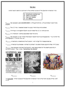 Spanish American War Packet
