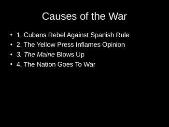 Spanish-American War PowerPoint