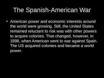 Spanish-American War PowerPoint