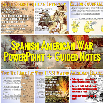 spanish american war powerpoint guided notes by students of history rh teacherspayteachers com guided reading the spanish american war chapter 18 section 2 answers guided reading the spanish american war chapter 18 section 2 answers