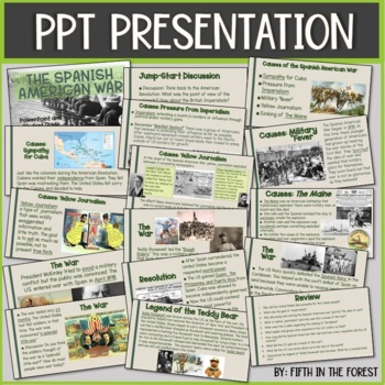 Spanish American War PowerPoint PLUS Student Guide