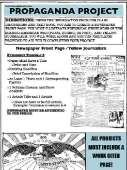Spanish-American War Propoganda Project, Differentiated